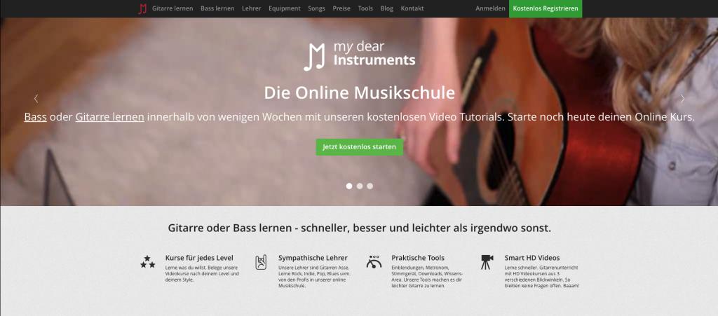 Benutzeroberfläche My Dear Instruments