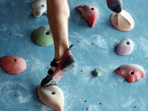 Fußtechnik beim Klettern