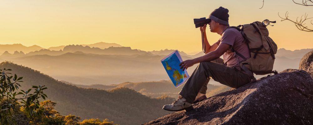 Die Bergspitze als idealer Beobachtungsposten