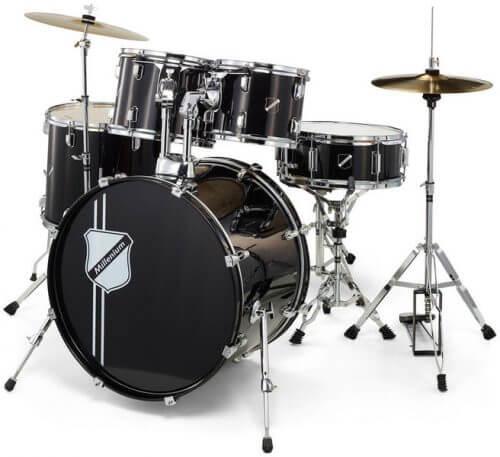 Millenium Focus 22 Drum Set Black Foto