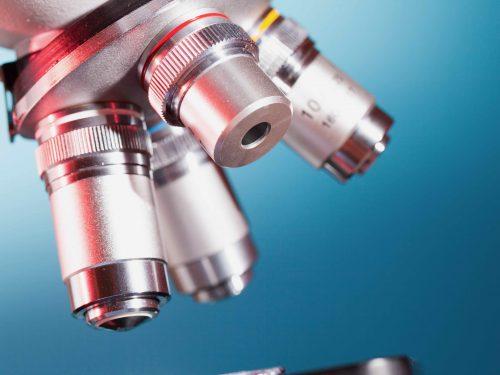 Objektive am Mikroskop