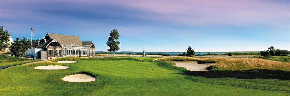 Panorama eines Golfplatzes