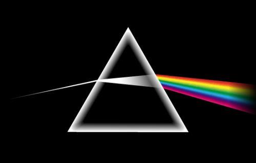 Lichtspektren fallen durch Prisma