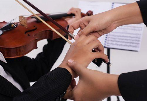Geigenunterricht nehmen