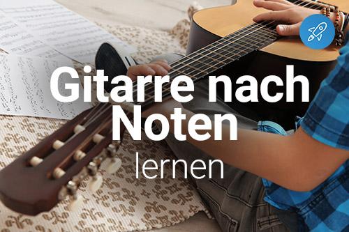 Gitarre online nach Noten spielen lernen