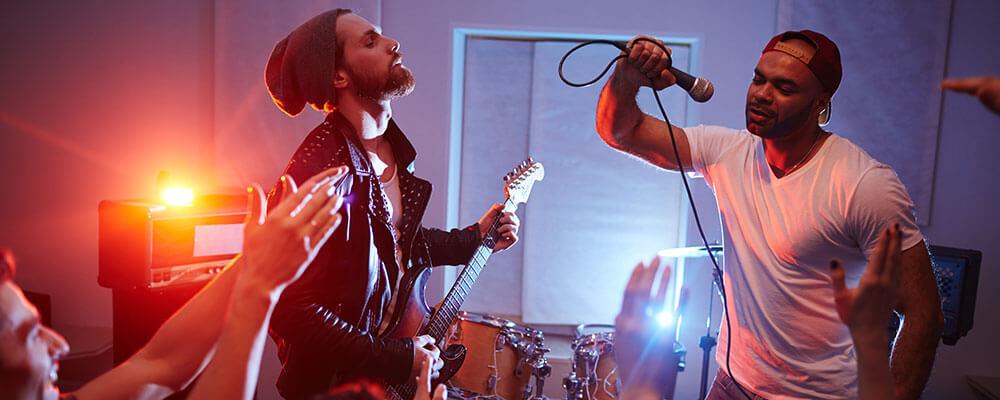 Live-Auftritt einer Band